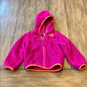 Hot Pink The North Face Fleece Jacket